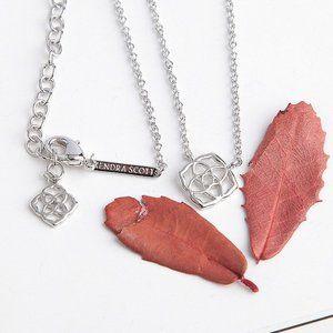 Kendra Scott Logo Pendant Necklace In Silver
